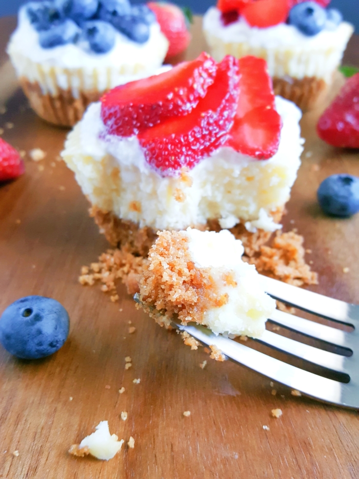 The Best Classic Mini Cheesecakes Recipe -Luscious cream cheese filling poured on to a graham cracker crust and baked to perfection. Top with whipped cream,fruit, salted caramel or your favorite pie filling! | beatbakeeat.com