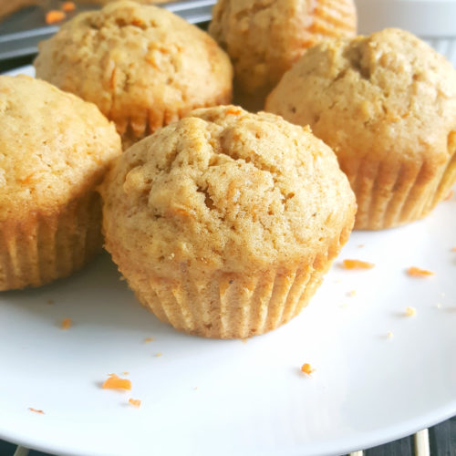 Cinnamon Butter Carrot Cake Spice Muffins - Loads of Carrot Cake flavor packed into yummy little muffins that are perfectly spiced, moist, and lightly sweetened. Have them for breakfast or as a snack.