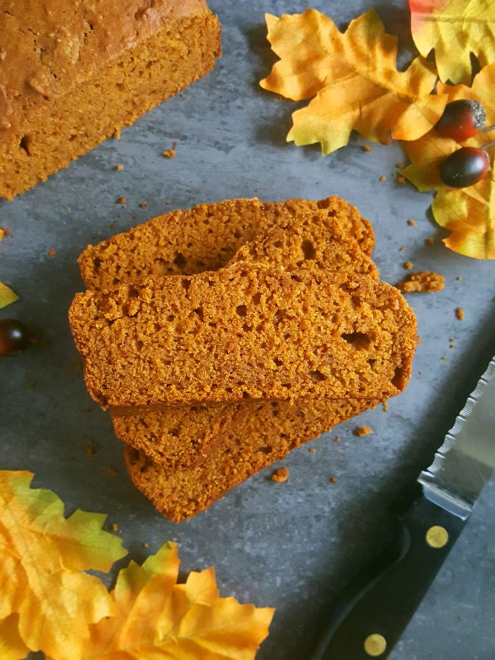 The Best Vegan Pumpkin Bread Recipe - This easy, one bowl, egg-free recipe yields one Vegan Pumpkin Loaf made with pumpkin puree, brown sugar, and spices. Perfect for a homemade Fall breakfast or snack that is moist and dairy-free!