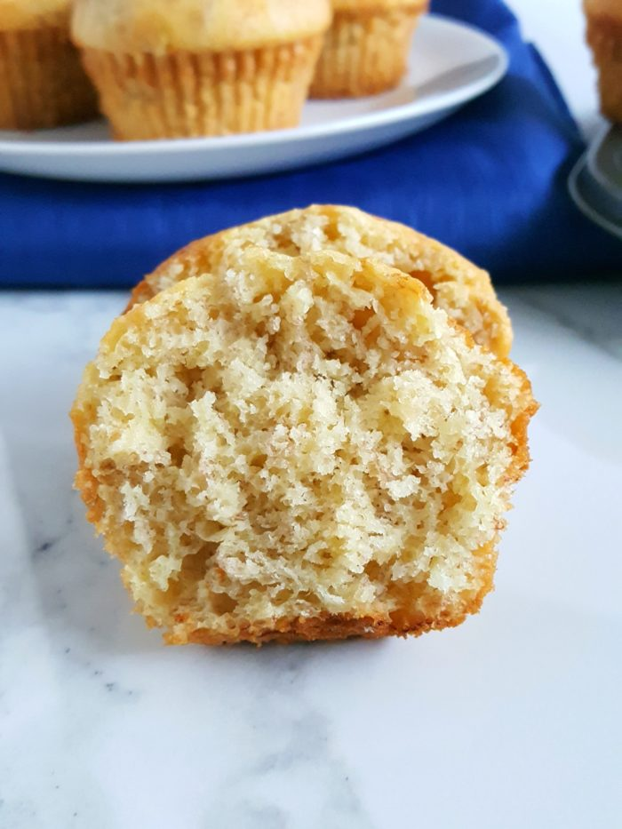 4 Ingredient Cake Mix Banana Muffins - Mix together 3 bananas, 3 eggs, 1/2 cup oil, and 1 box yellow cake mix to make moist and delicious banana muffins! Super quick and easy.   beatbakeeat.com