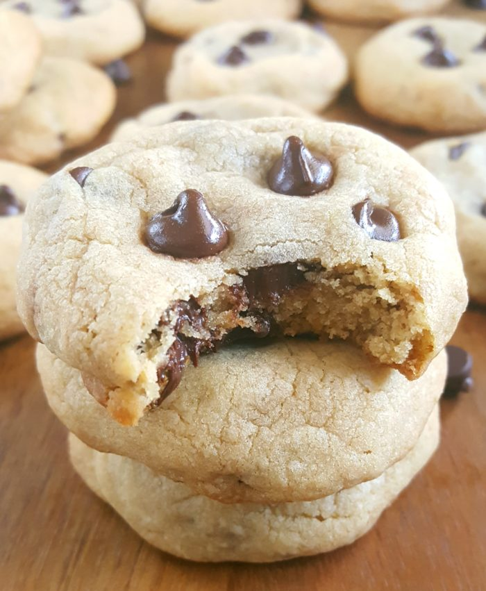Easy Soft Chocolate Chip Cookies Recipe - A simple recipe for rich, buttery, thick, soft-batch chocolate chip cookies. No chilling required, basic ingredients, and ready in 20 minutes. | Beat Bake Eat