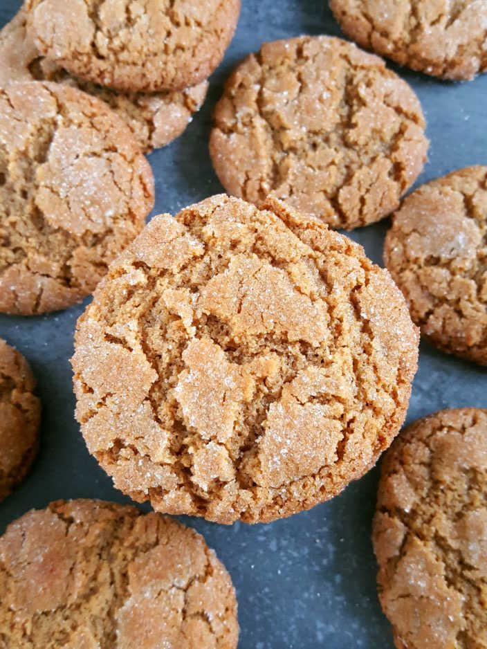 Chewy Gluten Free Peanut Butter Cookies - Easy recipe for chewy flourless peanut butter cookies rolled in sugar. | Beat Bake Eat