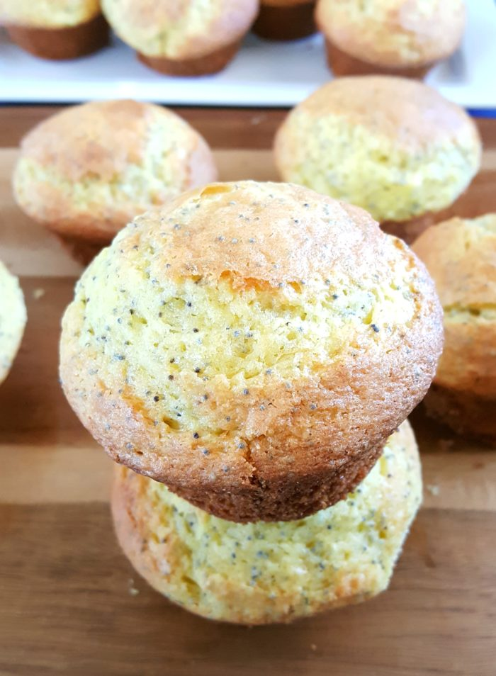 Cake Mix Lemon Poppy Seed Muffins - Easy lemon poppy seed muffins made with lemon cake mix. Moist, bakery style muffins perfect for a quick breakfast.   Beat Bake Eat