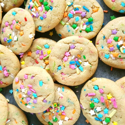 Homemade Sprinkle Cookies Recipe - Perfectly soft and chewy sprinkle cookies. Easy to make, no chilling required, and ready in less than 25 minutes! | Beat Bake Eat