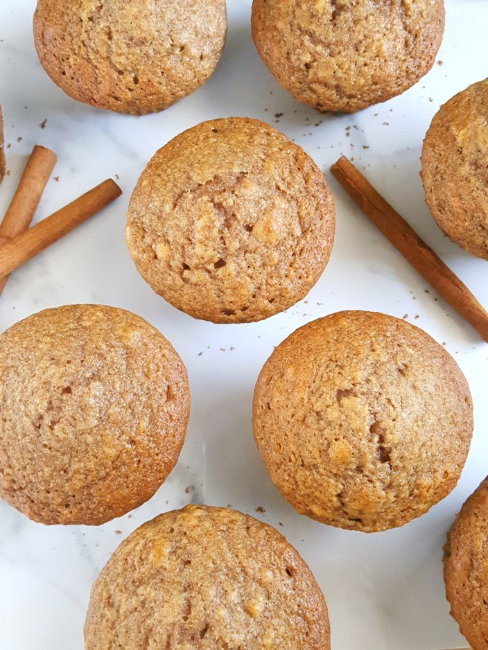 Best Applesauce Muffins Recipe Ever - The best easy one bowl recipe for moist applesauce muffins made with oil, perfectly sweetened, and spiced with cinnamon and nutmeg.   Beat Bake Eat