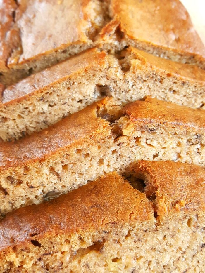 Banana Bread Recipe for 4 Bananas - Easy one bowl recipe for moist homemade banana bread with oil. Simple, quick, and dairy-free. | Beat Bake Eat