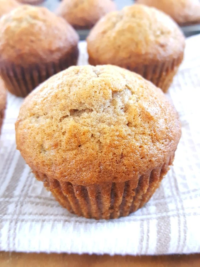 Banana Muffin Recipe for 2 Bananas - An easy foolproof recipe for moist, fluffy banana muffins made with oil, 2 bananas and cinnamon. Perfect for a simple and quick breakfast!   Beat Bake Eat