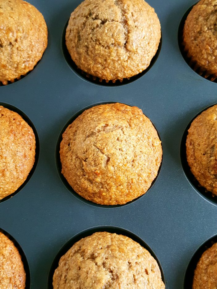 Sugar Free Whole Wheat Banana Muffins - Healthy dairy-free banana muffins made with whole wheat flour & no refined sugar. Perfect for a low calorie & low fat breakfast or snack!   Beat Bake Eat