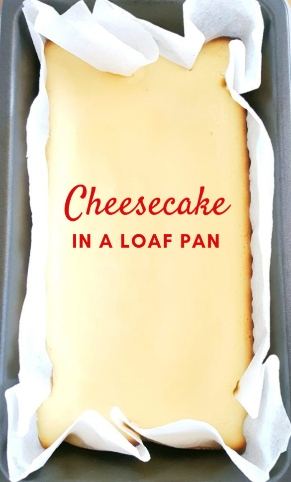 Basic Loaf Pan Cheesecake - Homemade small-batch cheesecake that is quick & easy to make, simple ingredients, no sour cream, no water bath needed; perfect for beginners. Serve this creamy dessert plain or with your favorite toppings. | Beat Bake Eat