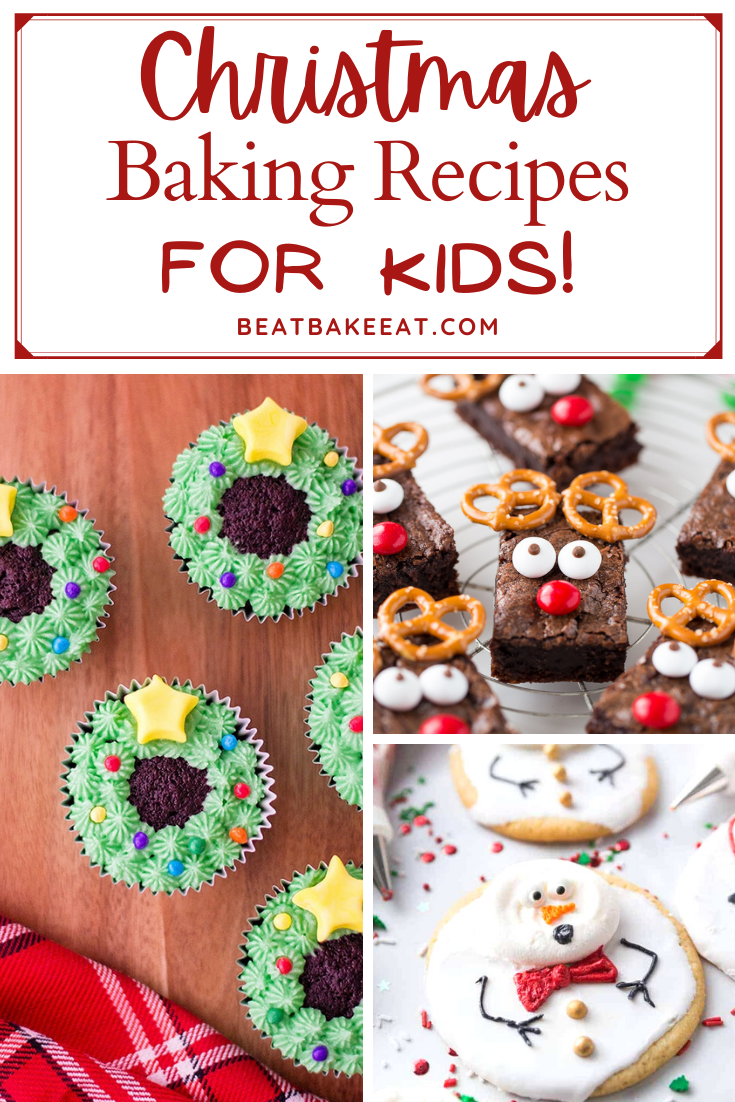 A list of fun and creative christmas baking recipes for children to make and enjoy!   Beat Bake Eat