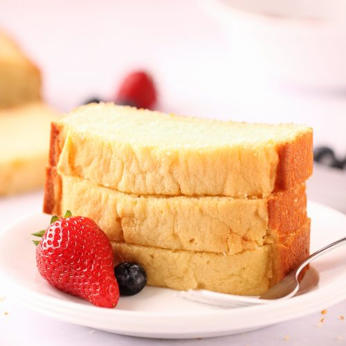 Easy, one bowl, beginner-friendly recipe for dense, moist, and perfectly sweetened pound cake made with buttermilk and baked in a loaf pan. | Beat Bake Eat