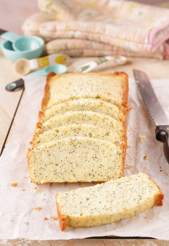 Lemon poppy seed pound cake loaf made without lemons. | Beat Bake Eat