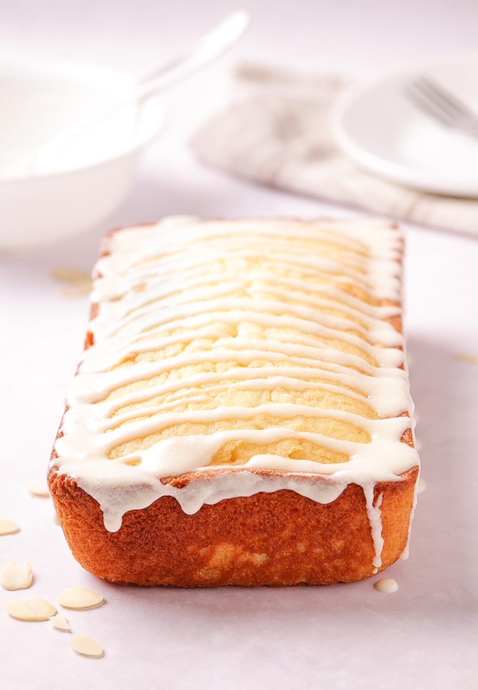 Almond Buttermilk Pound Cake in a Loaf Pan. | Beat Bake Eat