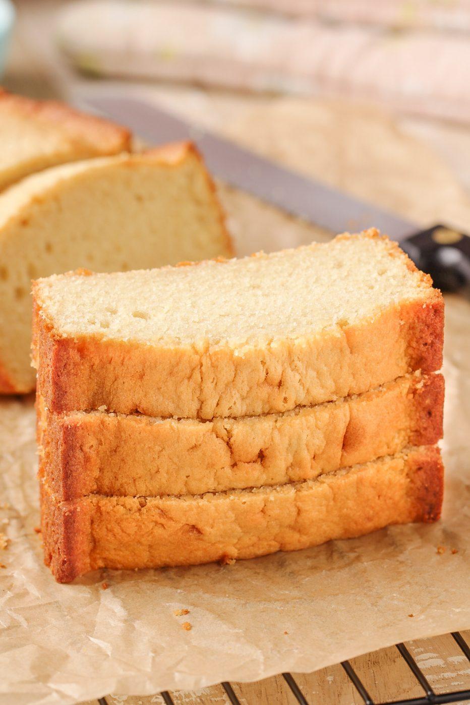 Loaf Pan Brown Sugar Pound Cake | Beat Bake Eat