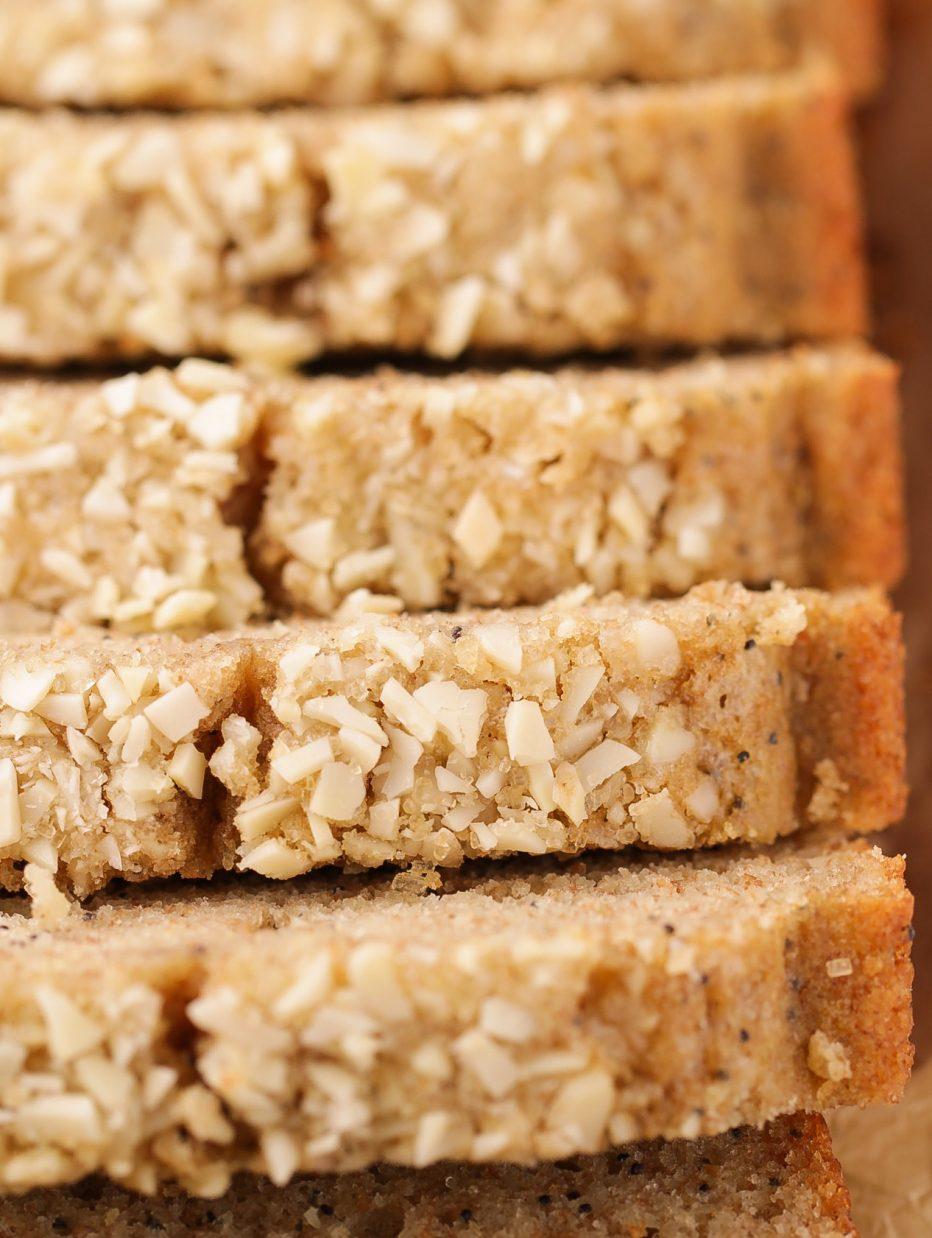 Whole Wheat Almond Poppy Seed Quick Bread | Beat Bake Eat