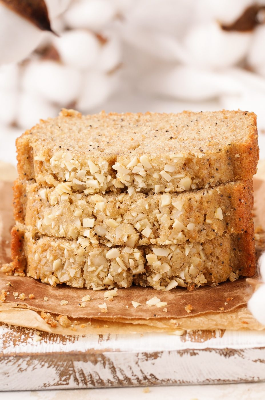 Healthy Almond Poppy Seed Quick Bread | Beat Bake Eat