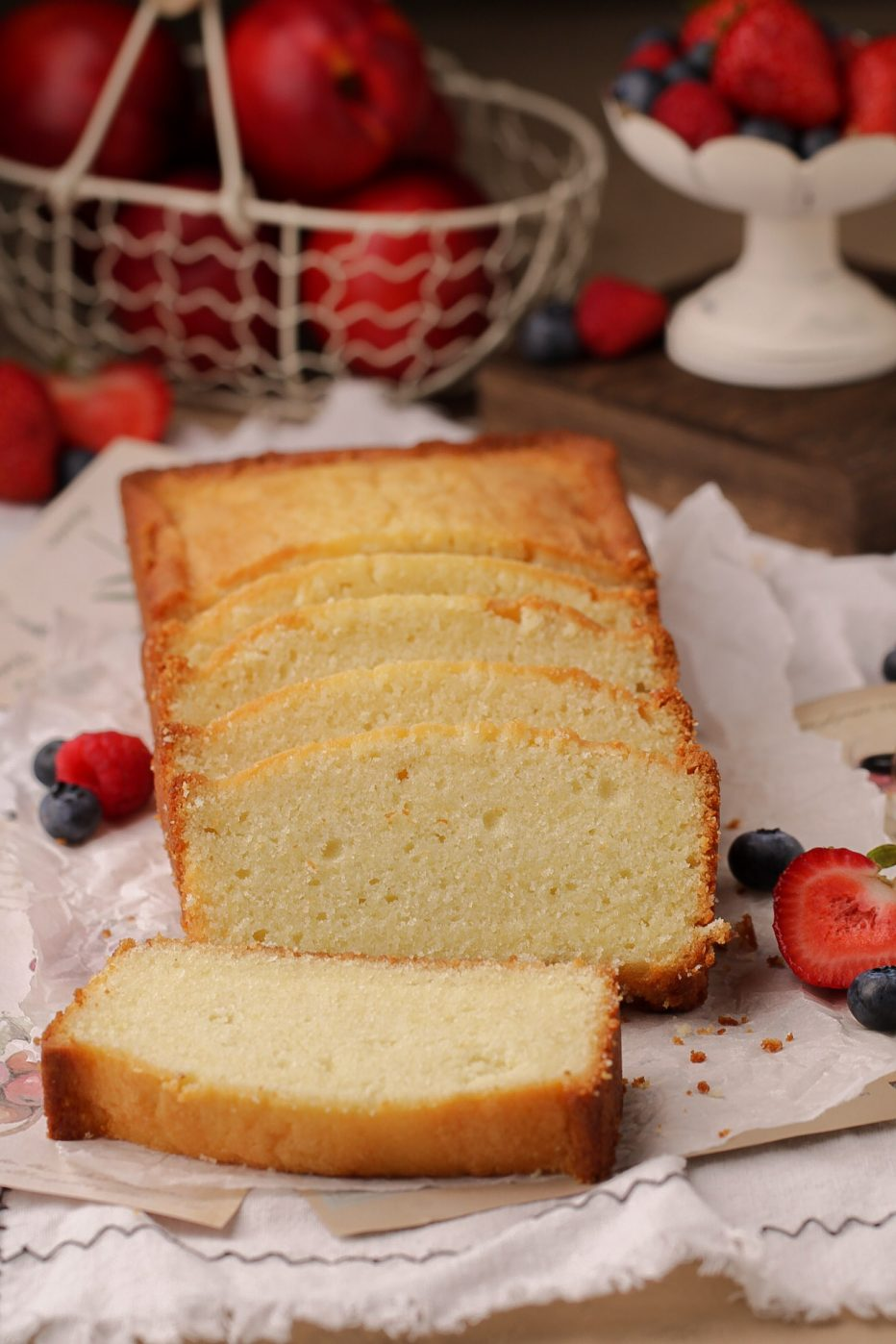 Cream Cheese Pound Cake in a Loaf Pan